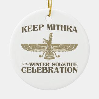 Maintenez Mithra dans la célébration de solstice d Décoration Pour Sapin De Noël
