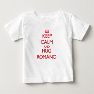 Maintenez romano calme et d'étreinte t-shirt pour bébé