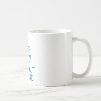 Maintenez suppression calme et du coup CTRL alt Mug Blanc