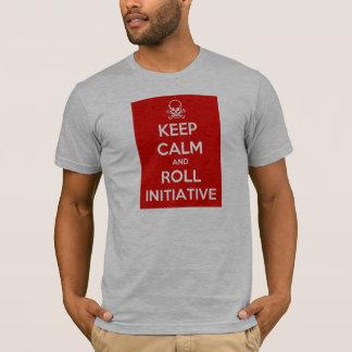 Maintenez T-shirt calme et de petit pain