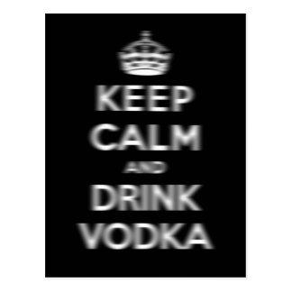 Maintenez vodka calme et de boissons carte postale