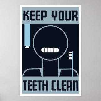Maintenez vos dents propres -- WPA Affiches