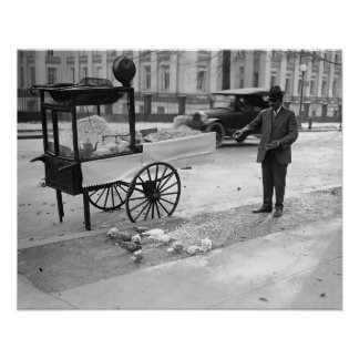 Maïs éclaté à vendre Sale, 1926. Photo vintage Poster