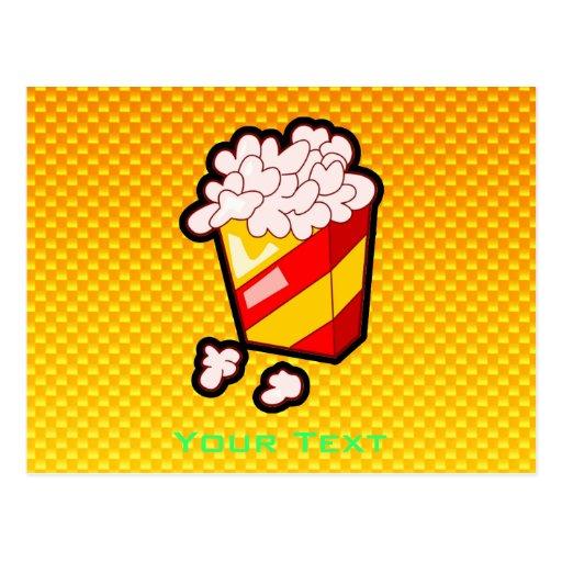 Maïs éclaté jaune-orange cartes postales
