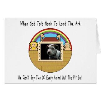 Mais le pitbull cartes de vœux
