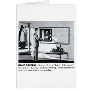 Maison à télécommande de banlieues vintages du carte de vœux