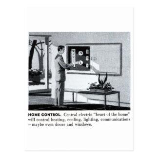Maison à télécommande de banlieues vintages du cartes postales