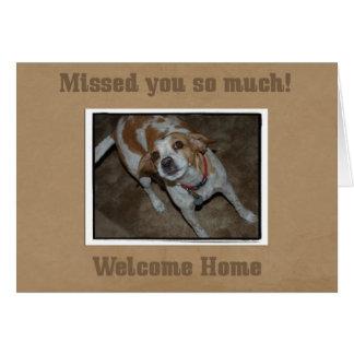 Maison bienvenue de carte d'animal familier