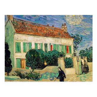 Maison blanche la nuit - Vincent van Gogh Carte Postale