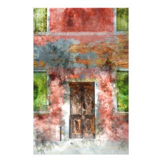 maison colorée en île Venise Italie de Burano Papier À Lettre Personnalisé