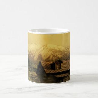 maison dans la forêt mug