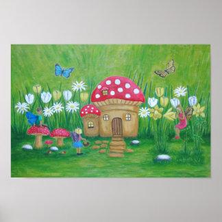 maison de champignon poster