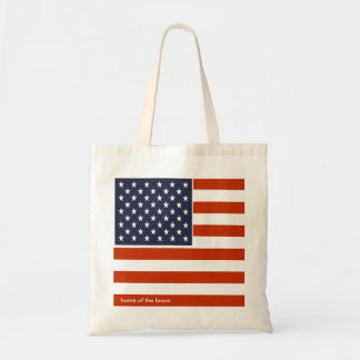 Maison de drapeau des Etats-Unis du sac