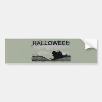 Maison de Halloween sur la colline Autocollant De Voiture