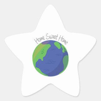Maison douce à la maison sticker étoile