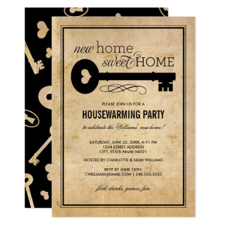 Maison douce à la maison de la partie | de carton d'invitation  12,7 cm x 17,78 cm