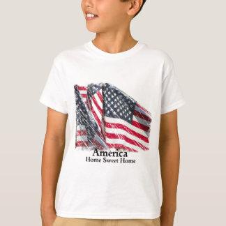 Maison douce à la maison de l'Amérique T-shirt