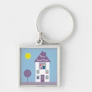 Maison douce à la maison porte-clé
