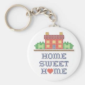 Maison douce à la maison porte-clé rond