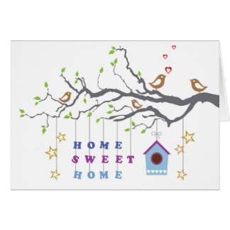 Maison douce à la maison se déplaçant la carte de