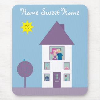 Maison douce à la maison tapis de souris