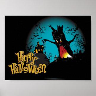Maison hantée par Halloween effrayante avec Posters