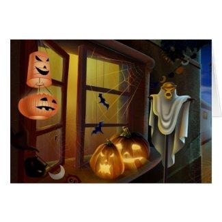 Maison pour Halloween - Cartes De Vœux