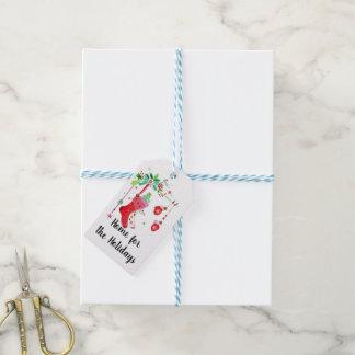 Maison pour les étiquettes de cadeau de Noël de