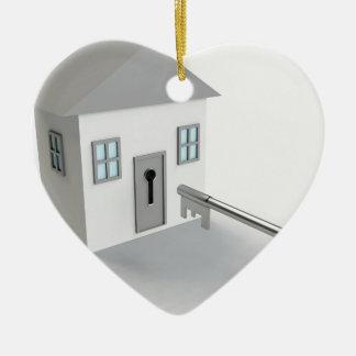 Maison principale, agent immobilier, vrai agent ornement cœur en céramique