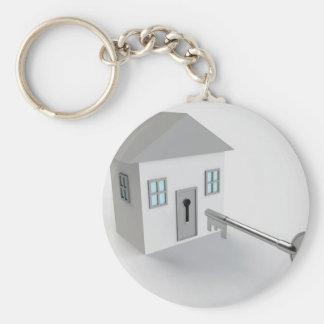 Maison principale, vrai agent immobilier, se porte-clé rond