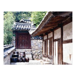 Maison traditionnelle coréenne prospectus personnalisés