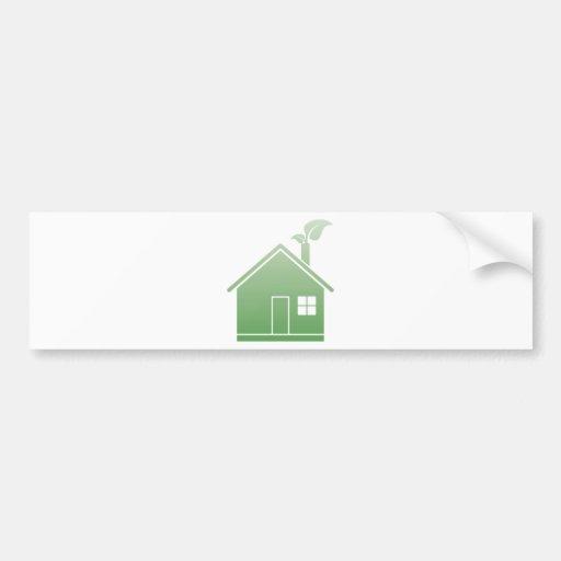 maison verte autocollants pour voiture