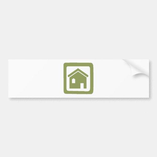 Maison verte autocollant pour voiture