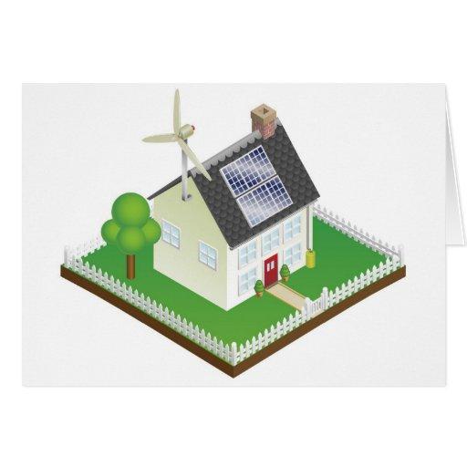 Maison viable d 39 nergie renouvelable cartes de v ux zazzle for Maison a energie renouvelable