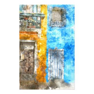 Maisons colorées dans Burano Italie près de Venise Papier À Lettre Customisable