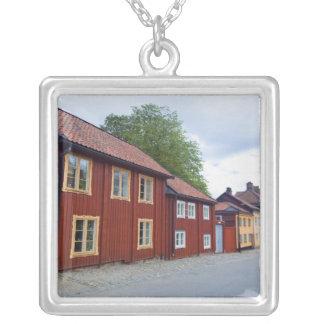 Maisons colorées, Lotsgatan, Södermalm, Stockholm Pendentif Carré