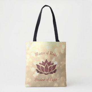 Maître de conception de Reiki Lotus Tote Bag