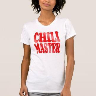 Maître de piment en rouge t-shirt