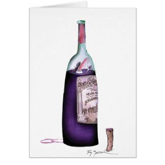 maître de vin, fernandes élégants carte de vœux
