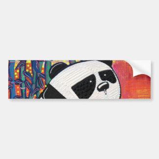Maître de zen de panda autocollant pour voiture