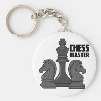 Maître d'échecs porte-clé rond