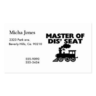 Maître du conducteur de train de Seat du DIS Carte De Visite