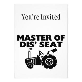 Maître du tracteur de Seat du DIS Invitation Personnalisée
