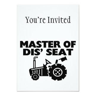 Maître du tracteur de Seat du DIS Carton D'invitation 12,7 Cm X 17,78 Cm