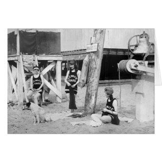 Maître nageurs de Venise de tricot, les années Carte De Vœux