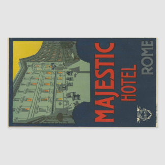 Majectic Hotel Rome Sticker Rectangulaire