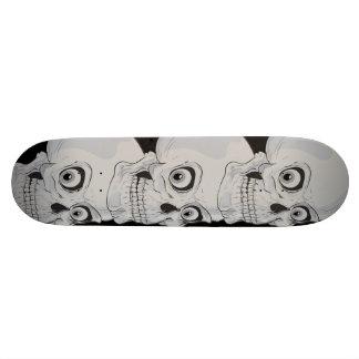 Mal grimaçant les crânes gothiques skateboards personnalisés