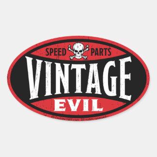Mal vintage 001A Sticker Ovale