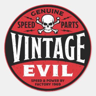 Mal vintage 002A Sticker Rond