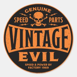 Mal vintage 002B Sticker Rond